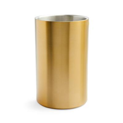 Goldtone Brushed Wine Cooler