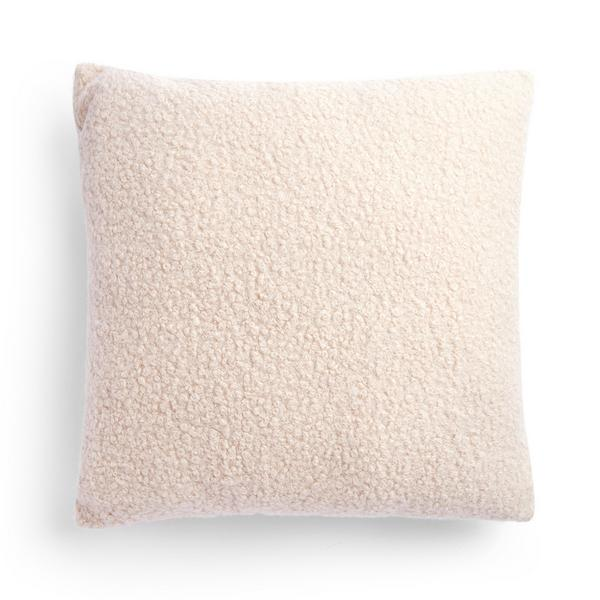 Ivory Boucle Cushion