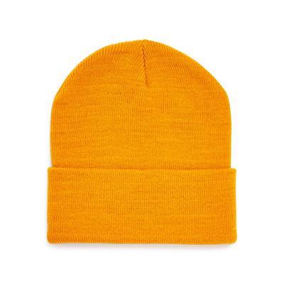 Mustard Deep Cuff Beanie Hat