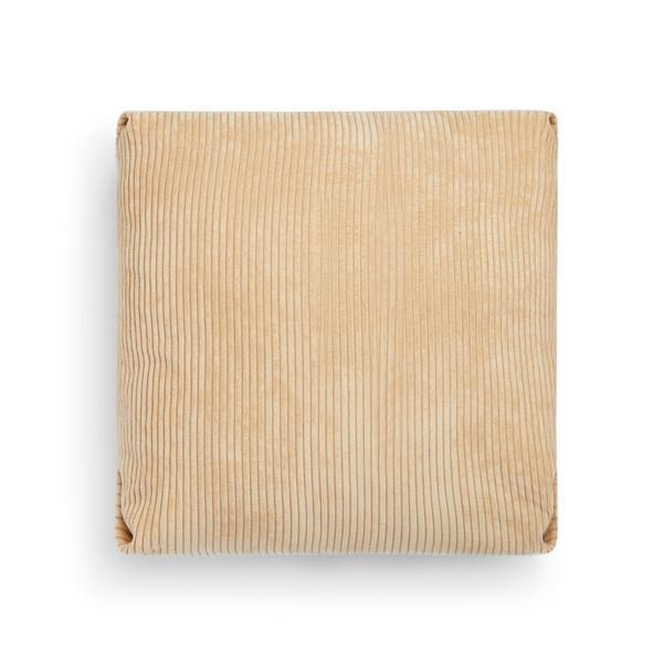 Beige Pleated Velvet Cushion Cover