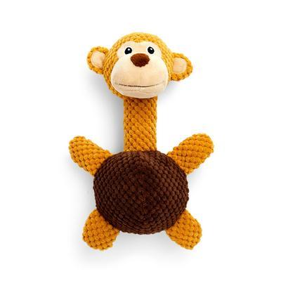 """Braunes """"Tough Dog"""" Hundespielzeug mit 3D-Affen-Design"""