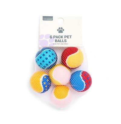 Tennisballen voor huisdier, set van 6