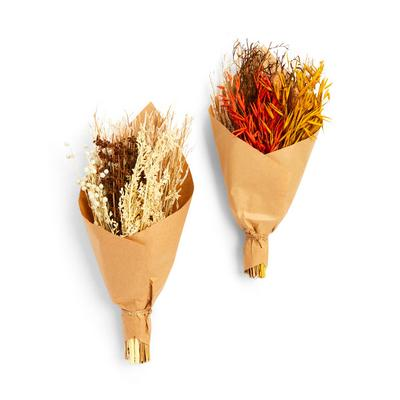 Large Dried Flowers In Brown Paper Wrap