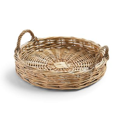 Large Woven Wicker Decorative Tray