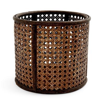 Brown Rattan Plant Pot