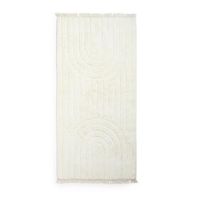 Alfombrilla para baño con patrones de color marfil de fabricación respetuosa con el medio ambiente Clarity