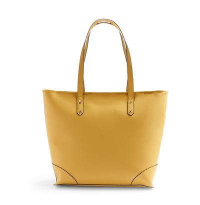 Yellow Bonded Shopper Bag