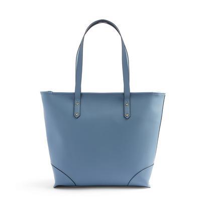 Blue Bonded Shopper Bag