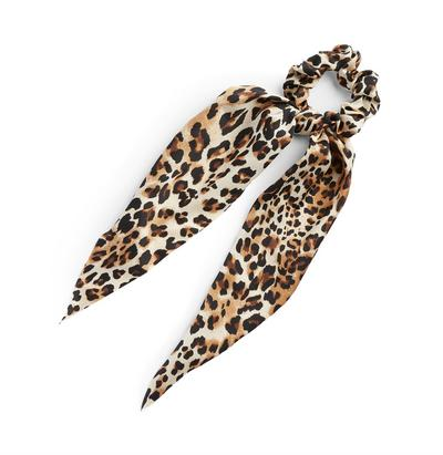 Longline Leopard Print Scrunchie