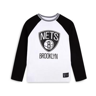 Younger Boy Monochrome NBA Brooklyn Nets T-Shirt