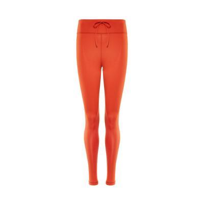 Orange Drawcord Leggings