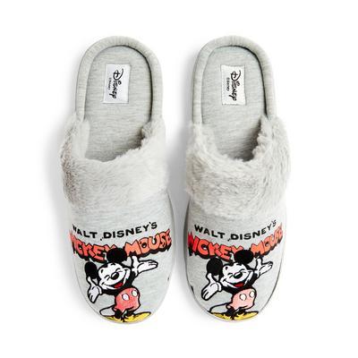 Gray Disney Mickey Mouse Nostalgia Slippers