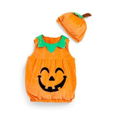 Oranje pompoenkostuum voor baby's