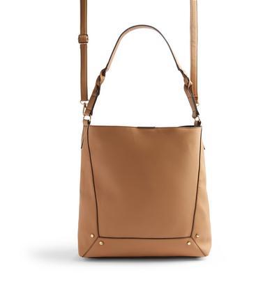 Beige Slouchy Shoulder Bag