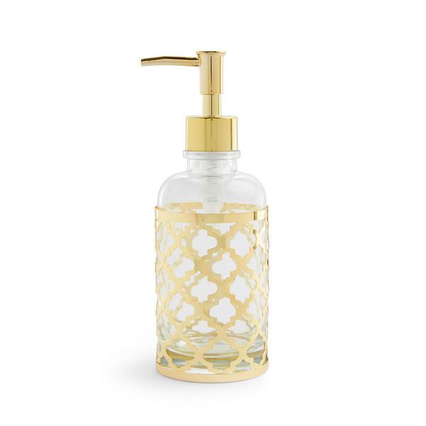 Flacon distributeur de savon doré à motifs Nostalgic