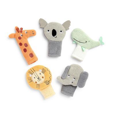 5-Pack Babyworld Friends Kids' Finger Puppets