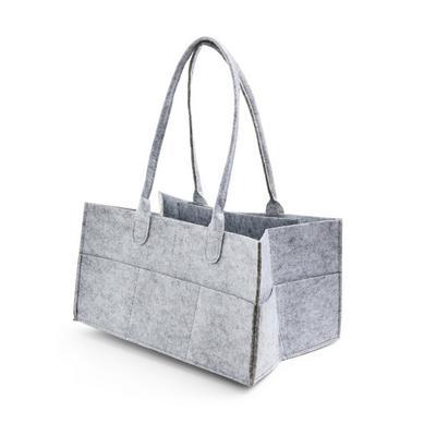 Gray Felt Caddy Basket