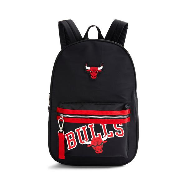 Black Nylon NBA Chicago Bulls Backpack