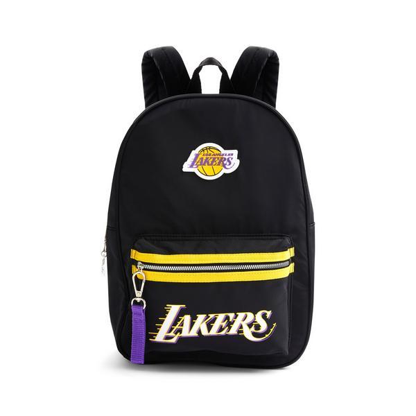 Black Nylon NBA LA Lakers Backpack