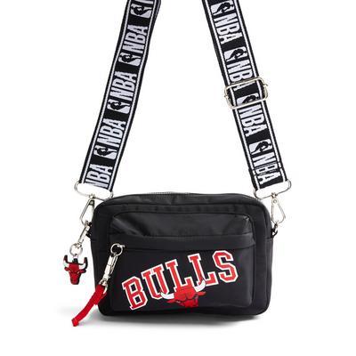 Black NBA Chicago Bulls Crossbody Bag