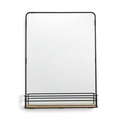 Black Wire Rectangle Mirror
