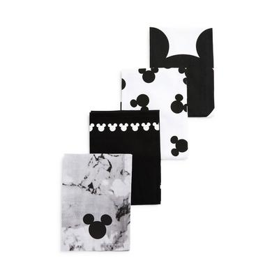 Disney Mickey Mouse Design Teatowels 4 Pack