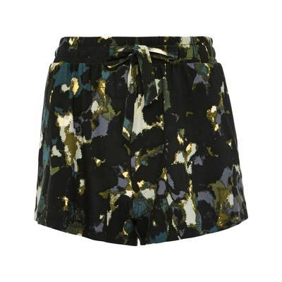 Schwarze Shorts mit Muster