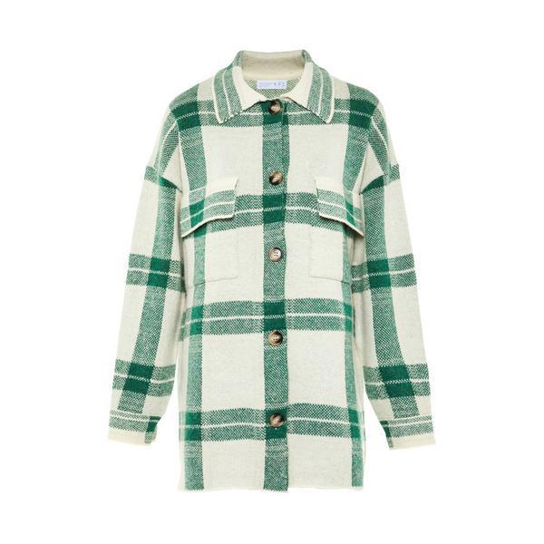 Green Check Shacket