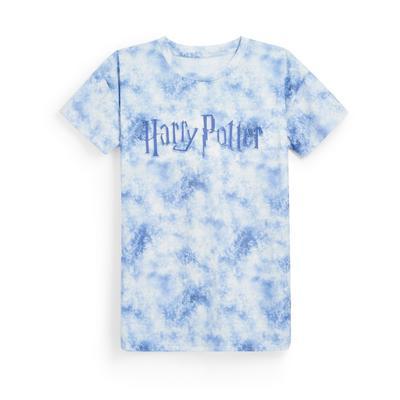 Older Girl Blue Acid Wash Harry Potter Print T-Shirt