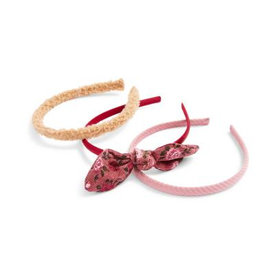 3-Pack Mixed Texture Hairbands