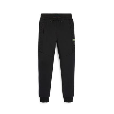 Older Boy Black Quilted Joggers