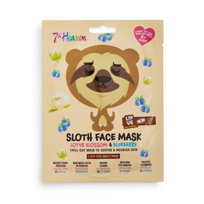 Maschera viso con stampa bradipo ai fiori di loto e mirtillo 7th Heaven