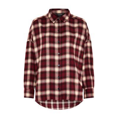 Red Check Boyfriend Shirt