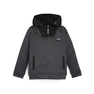 Younger Boy Charcoal Pullover Hoodie