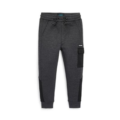 Younger Boy Charcoal Cargo Pocket Joggers