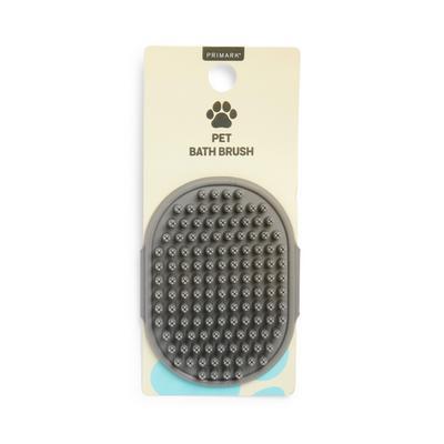 Grijze siliconeborstel voor huisdieren