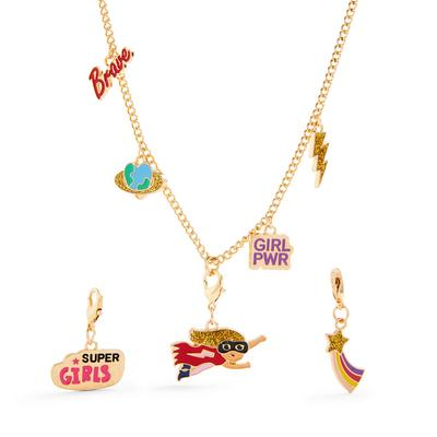 Gold Tone Eclectic Charms Chain Necklace