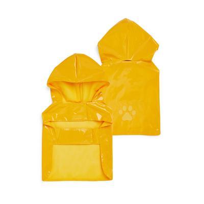 Impermeabile giallo con cappuccio