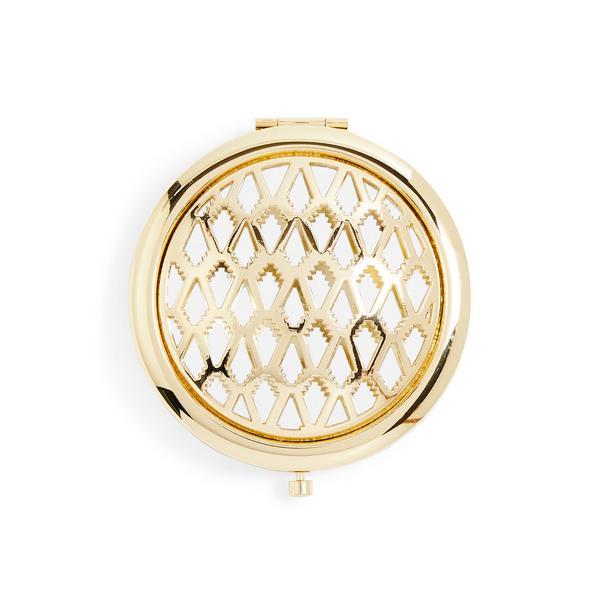 Espelho compacto PS Eastern Bloom dourado