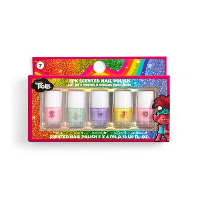 5-Pack Mixed Trolls Scented Nail Polishes