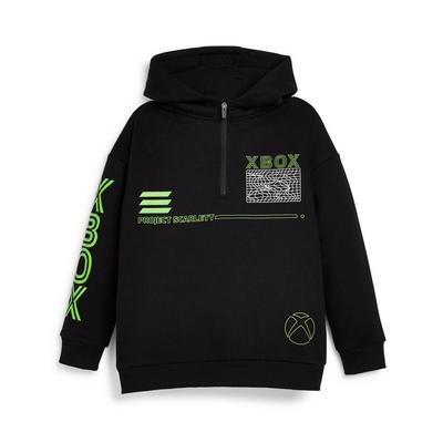 Sweat à capuche noir à col zippé X-Box ado