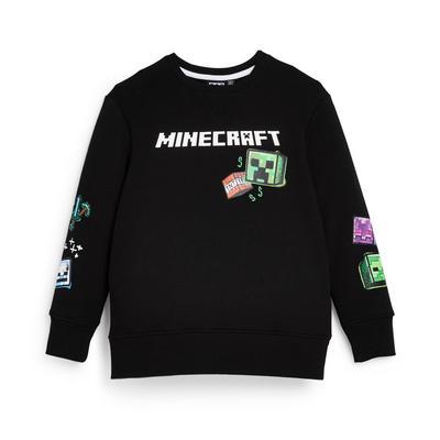 Sweat-shirt ras du cou noir Minecraft ado