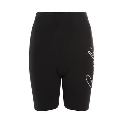 Pantalones cortos negros con estampado de Bambi