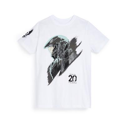 Older Boy White Halo Print T-Shirt