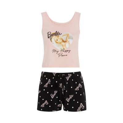 Pink Barbie Short Pajamas Set
