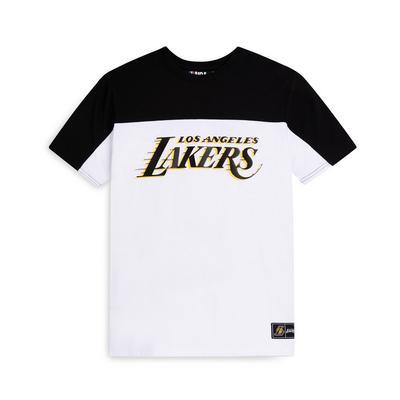 Older Boy White NBA LA Lakers T-Shirt