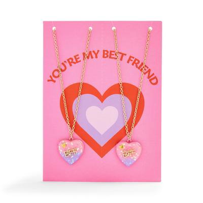 Best Friend Friendship Necklace Birthday Card