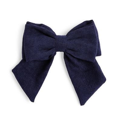 Marineblaue Haarschleife aus Cord