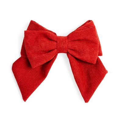 Rote Haarschleife aus Cord