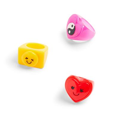 3-Pack Mixed Chunky Rings